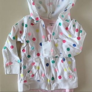 Carters Hoodie and T-shirt Set